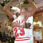 Jordan & Pippen Champagne Photo