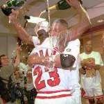 Jordan & Pippen Champagne Photo