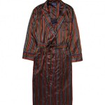 Derek Rose Striped Silk Robe
