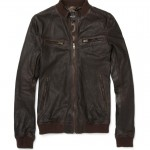 Dolce & Gabbanna Sheepskin Blend Leather Jacket