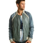 Armani Exchange Leather Stadium Jacket