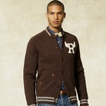 Rugby Knit Wool Baseball Jacket 3