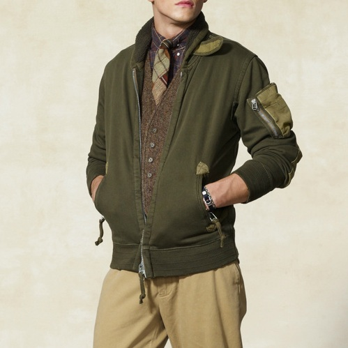 Military Jacket  on Rugby Ralph Lauren Military Shawl Bomber Jacket