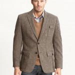 Banana Republic Wool Donegal Two-Button Blazer