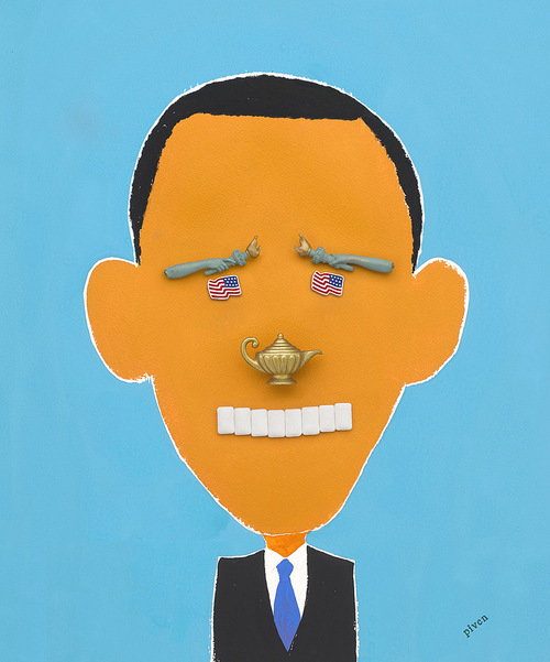 Barack Obama By Hanoch Piven