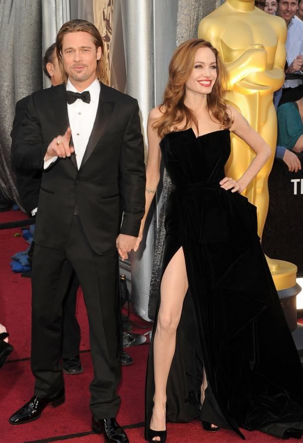 Brad Pitt 2012 Academy Awards Red Carpet
