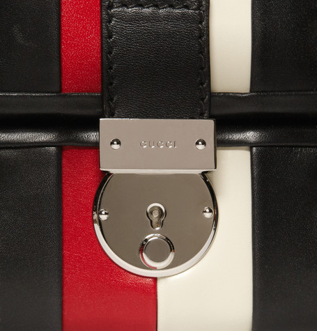 Gucci Striped Leather Briefcase