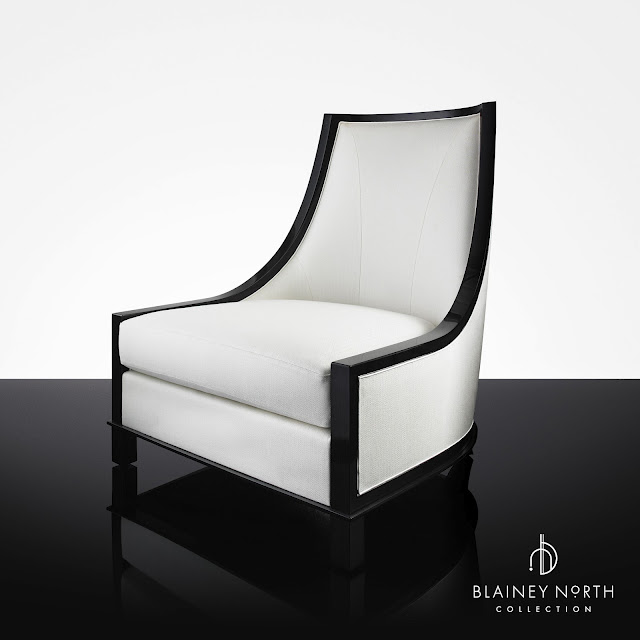 Blainey North Furniture High Back Black White Chair