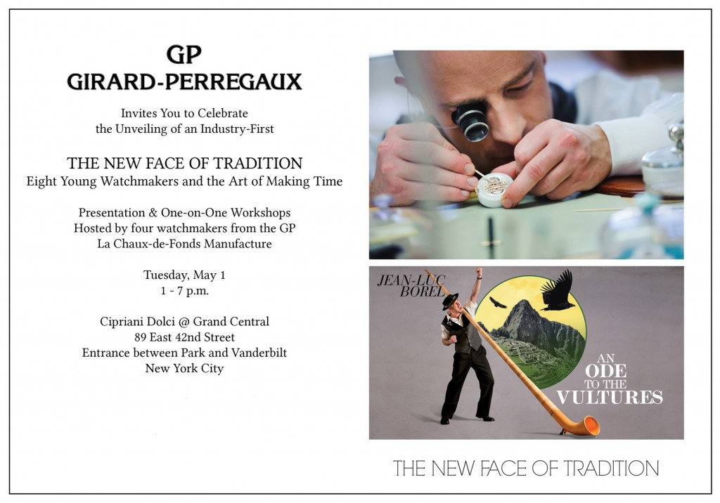 Girard-Perregaux The New Face Of Tradition Invite