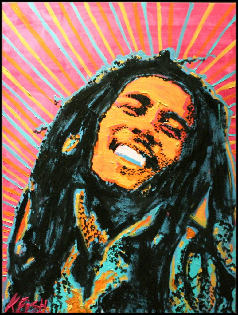 Kelcey Fisher Bob Marley Artwork