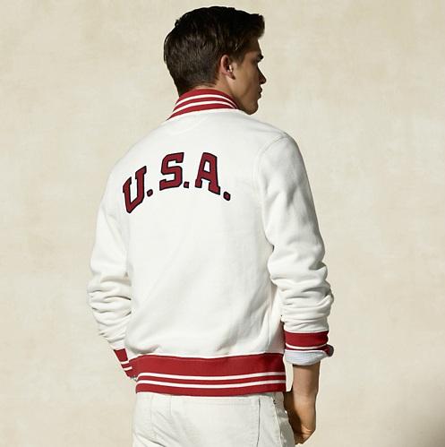 Rugby Ralph Lauren Men's USA Baseball Jacket