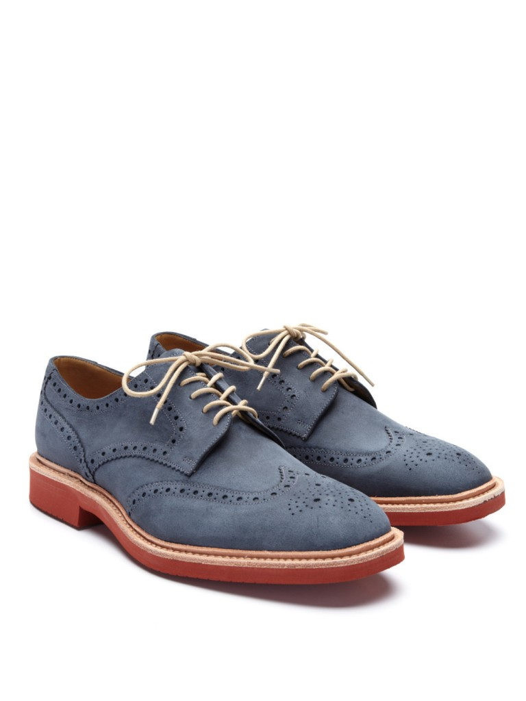 Loake Logan Derby Navy Brogues
