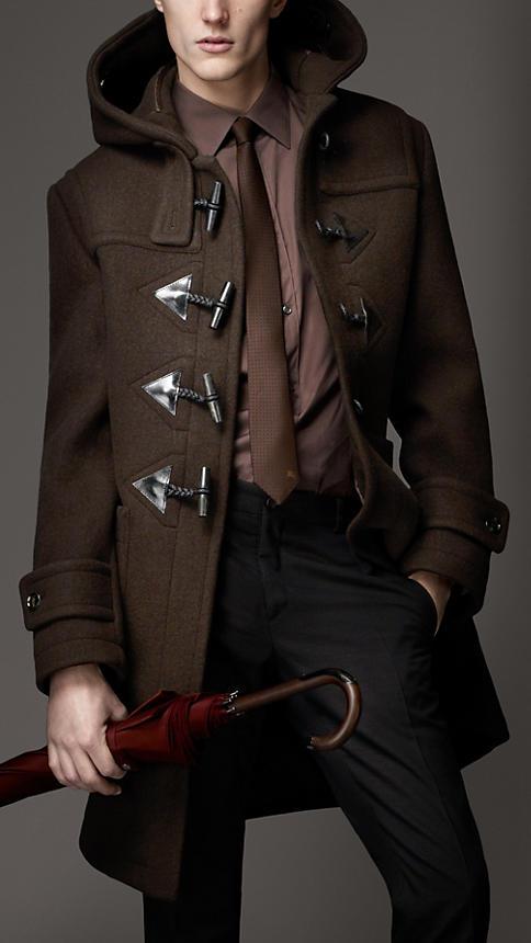 Burberry Men's Heritage Wool Duffle Coat
