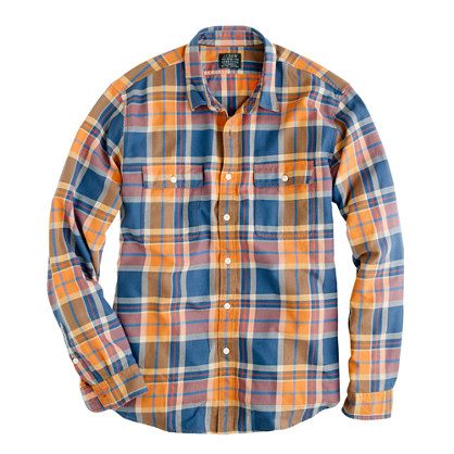 J.Crew Flannel Shirt In Caribbean Plaid
