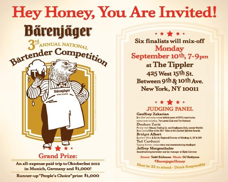 3rd Annual Bärenjäger Bartender Competition