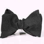 Barker Black Pin Dot Bow Tie
