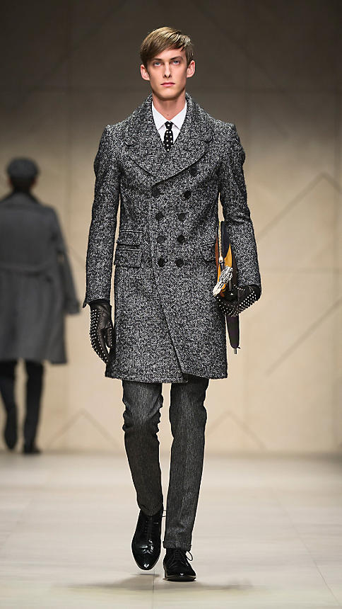 Burberry Sartorial Herringbone Top Coat