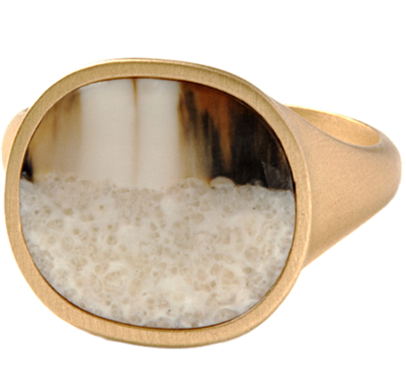 Monique Péan Homme Walrus Ivory Medium Ring