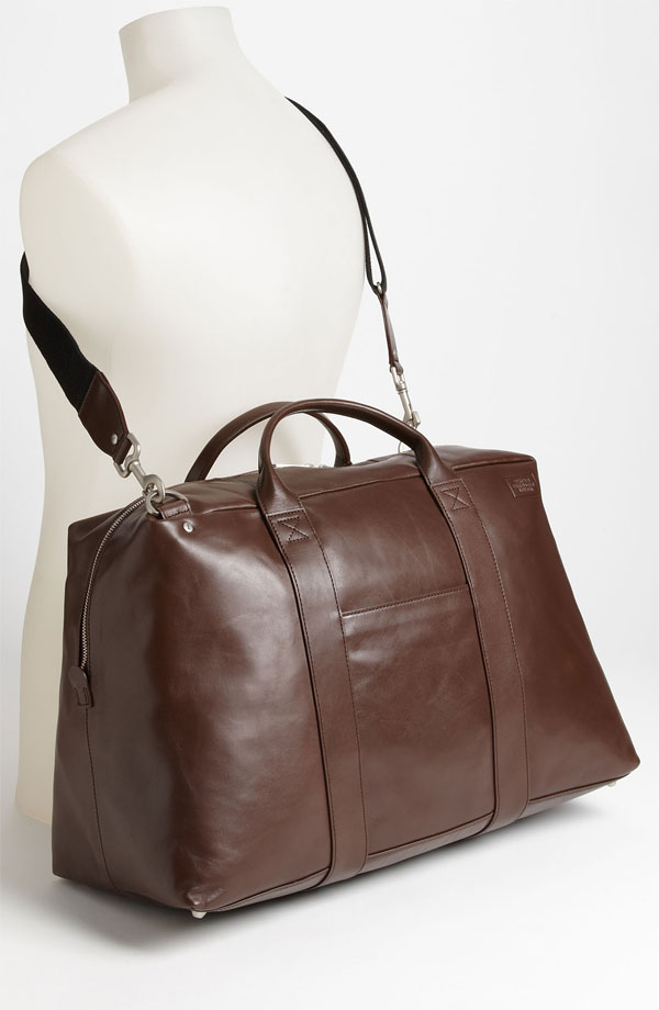 Jack Spade Wayne Leather Duffel Bag