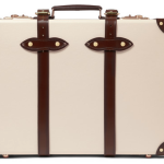 "Globe-Trotter 21"" Cream & Brown Briefcase"