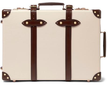 "Globe-Trotter 21"" Cream & Brown Briefcase"