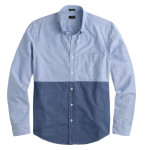 J. Crew Slim Vintage Oxford Shirt In Rustic Blue Colorblock 3