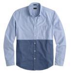 J. Crew Slim Vintage Oxford Shirt In Rustic Blue Colorblock 3
