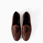 Zara Men's Braided Moccasin Shoes 2