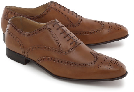 Brooks Brothers Antique Tan Lightweight Wingtips