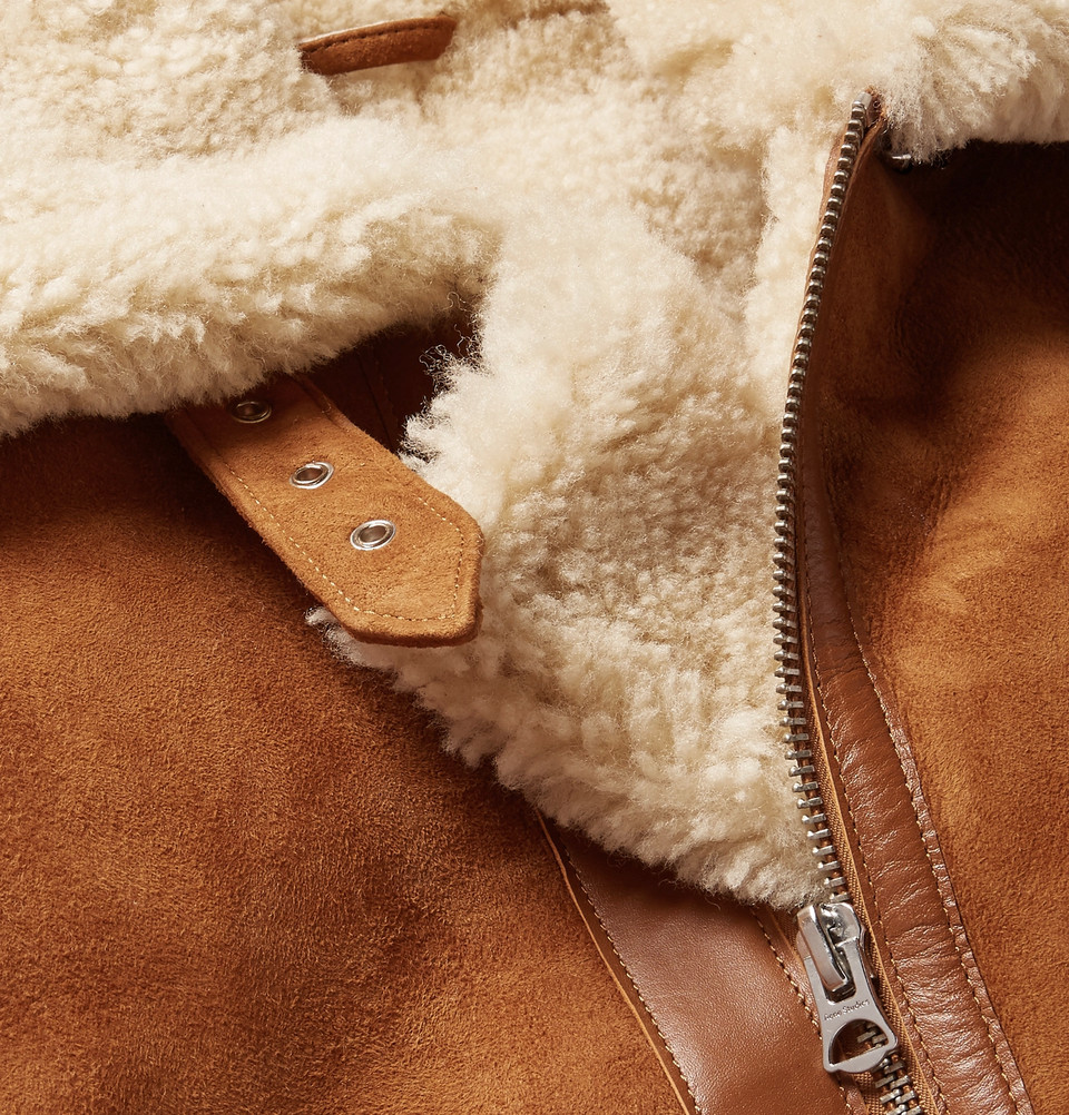 03f690b3c99 Classic pieces will always have a place in men's fashion. While it is not  winter just yet, the Acne Studio Ian Leather-Trimmed Shearling Jacket can't  be ...